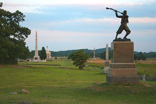 Cemetery Ridge as it looks today. [PHOTO: wikimedia]