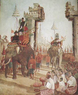 King Naresuan entering Bago [PHOTO: wikimedia]