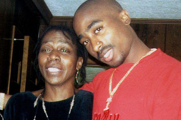 Tupac alongside his mother Afeni Shakur Photo: mirror