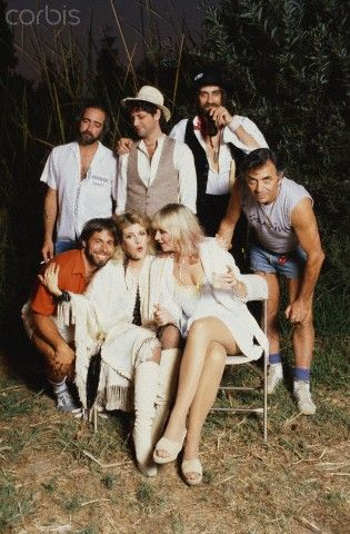 Wozniak posing with Fleetwood Mac Photo: pinterest