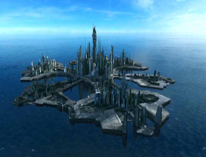 The City of Atlantis, From Stargate: Atlantis. [PHOTO: crystalinks.com]