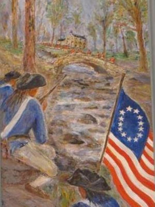 Painting of Cooch's Bridge  Photo: delewareonline