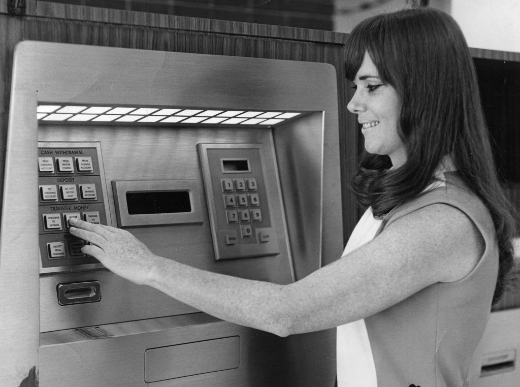 Slightly more sophisticated ATM's of 1971 Photo: metafilter