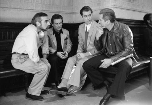 Behind the scenes with Scorsese sitting down to chat with the actors. Photo: pinterest