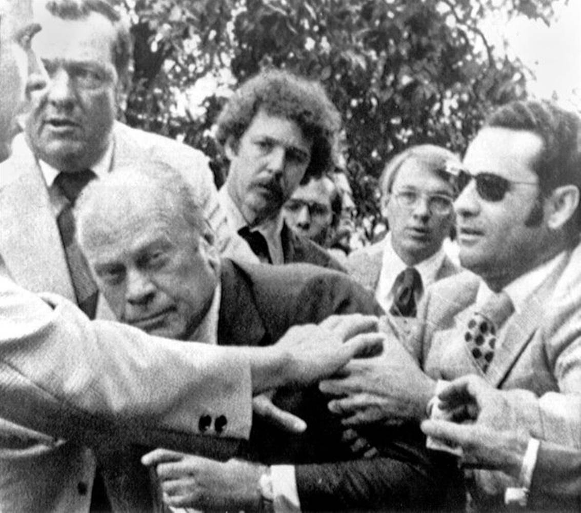 Image result for president gerald ford escapes the first assassination attempt