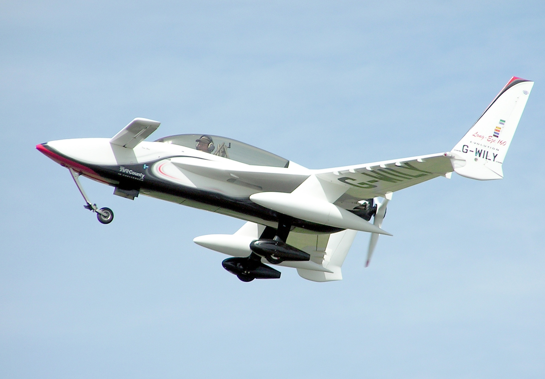 Long EZ aircraft similar to what Denver was flying Photo: wiki