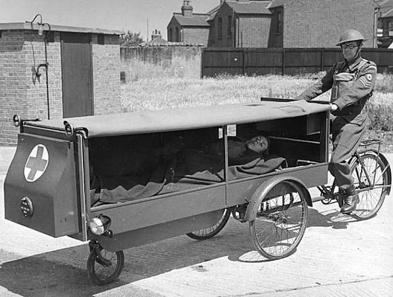 Said to be somewhat more modern version of the Bicycle Ambulance of WWII Photo: pinterest
