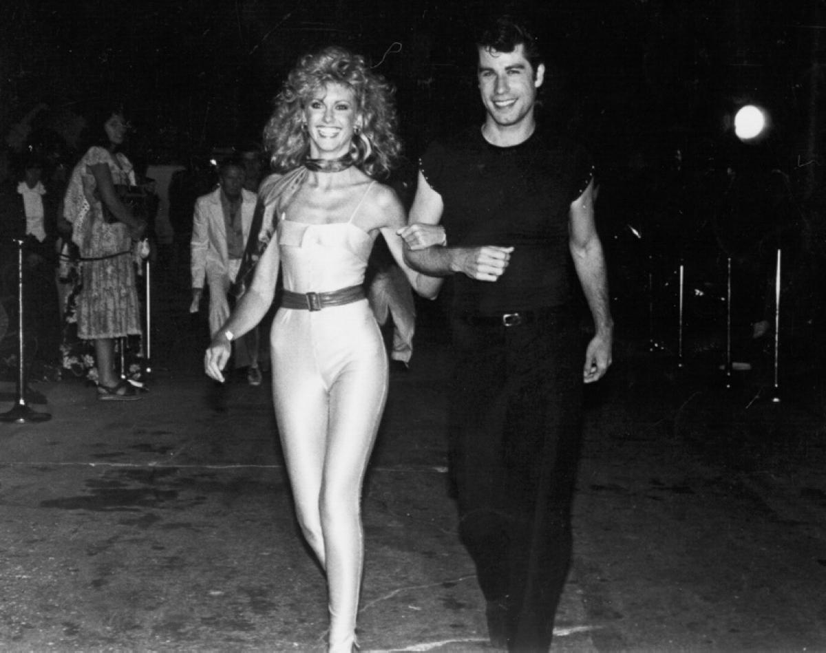 Travolta and Newton-John at the Grease Premier Photo: nydailynews