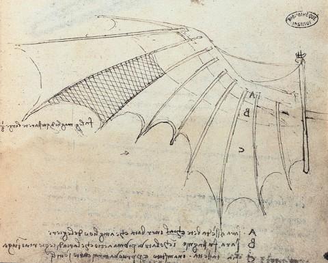 what year did leonardo da vinci invent the flying machine
