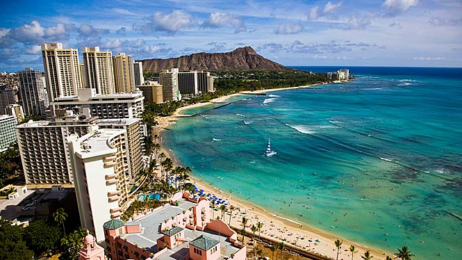 A present day image of the Waikiki shore. Photo: Aloha Hawaii