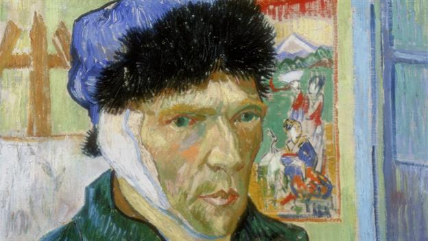 Self Portrait of Van Gogh after he cut his ear off. Photo: history
