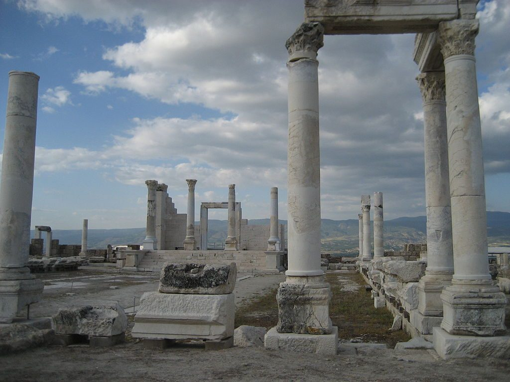 The remains of 'Temple A' in the Laodicean agora. [PHOTO: wikimedia]