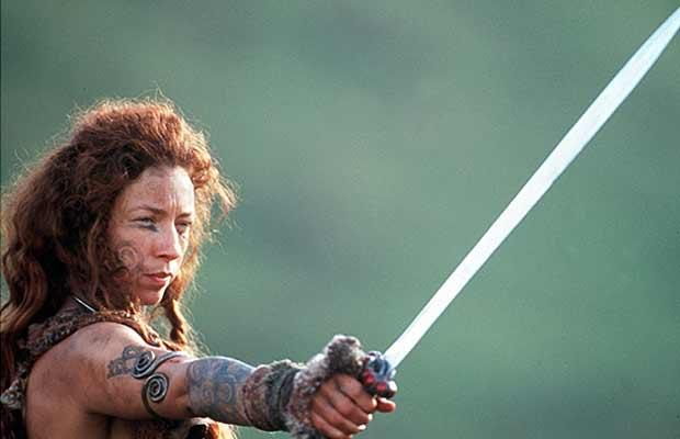 "Alex Kingston as Boudica in the film ""Warrior Queen"" [PHOTO: pinterest]"
