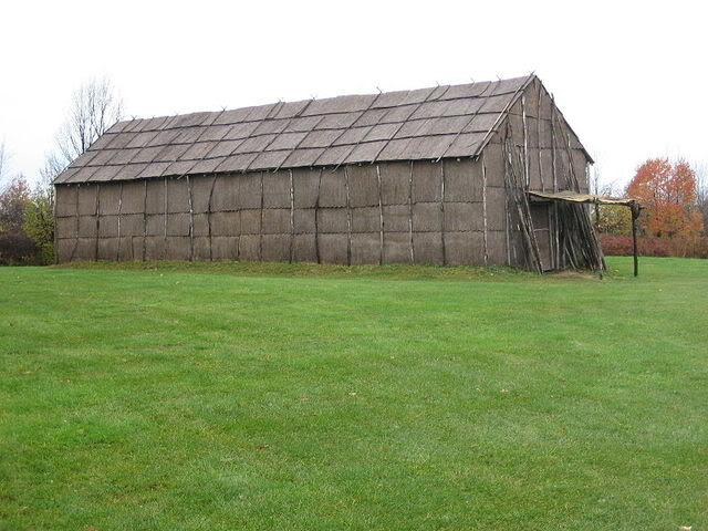 A reconstruction of a North-American Iroquois longhouse, which was built using similar principles as the longhouse found in Moldova. [PHOTO: photobucket]