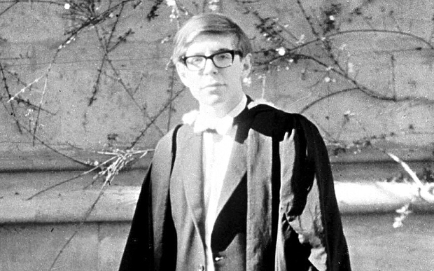 Hawking on graduation day, 1962 Photo: universetoday