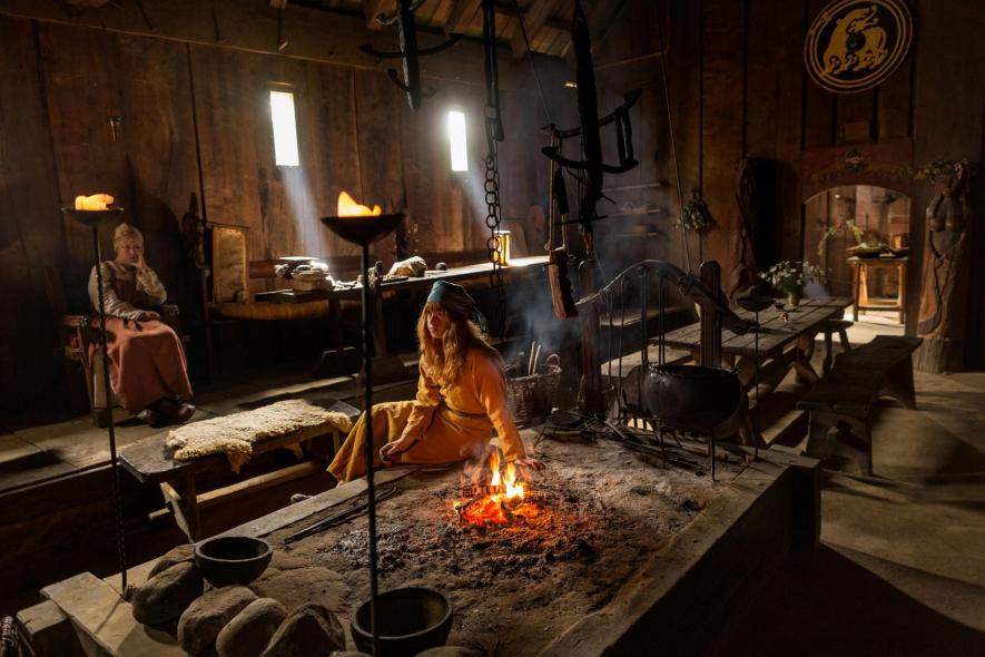 The historical world is brought to life at the new Viking re-enactment center in Denmark. Volunteers live out their lives like real Vikings did, drawing on historical evidence taken from archaeological digs around Scandinavia. Food is cooked over an open fire, and they eat popular Viking foods, like herring, boiled sheep heads, and barley porridge. Tasty. [PHOTO: National Geographic]