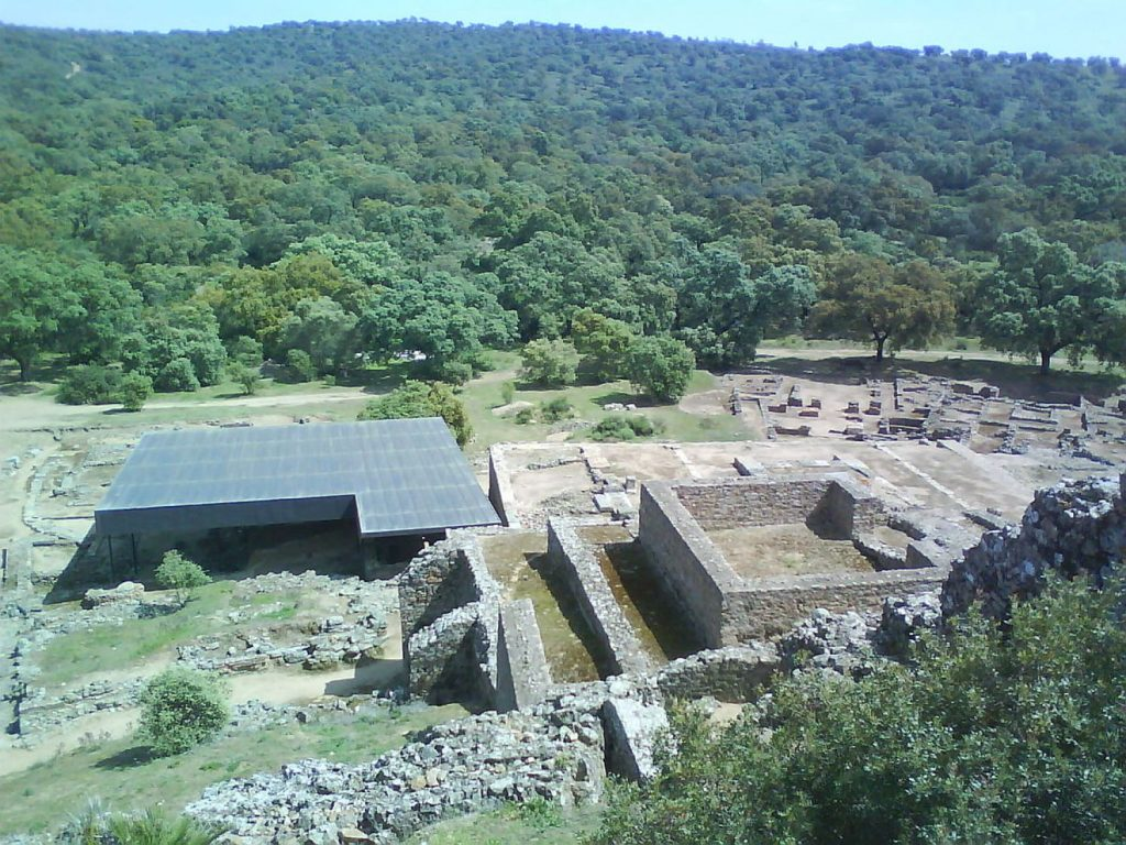 The remains of another temple at Munigua. [PHOTO: haaretz.com]