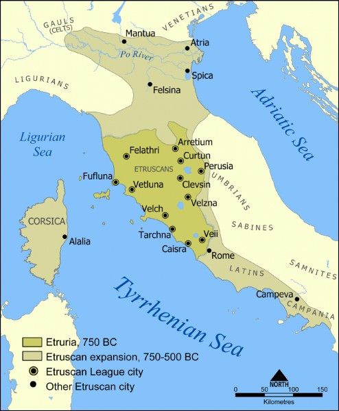 The Etruscan civilization. [PHOTO: ancient.eu]