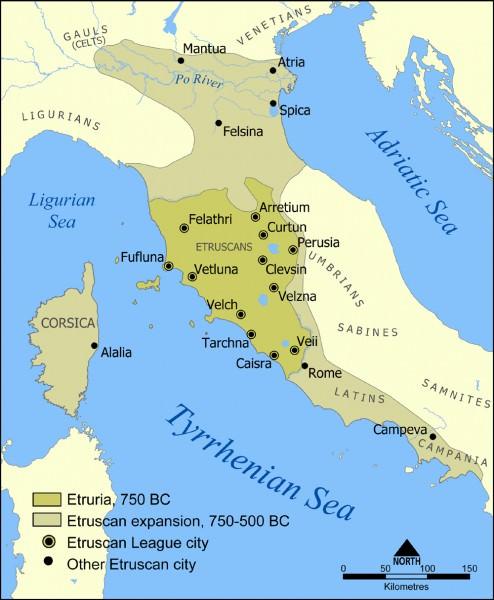 The Etruscan civilization. [PHOTO: ancient.eu]