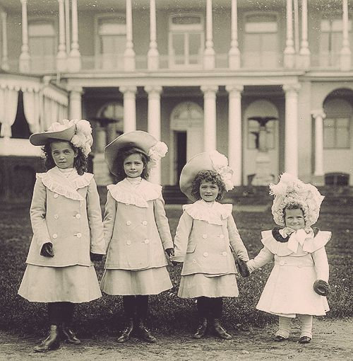 The four young Grand Duchesses. Source: pinterest.com