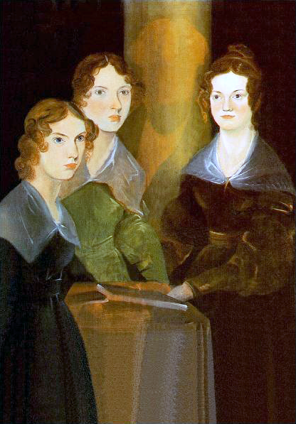 A portrait of (from left to right) Anne, Emily, and Charlotte Brontë done by their brother Branwell. Source: wikipedia.org