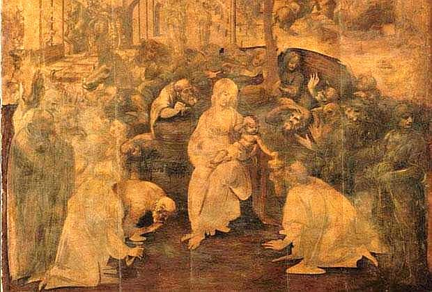 """The Adoration of the Magi"", by Leonardo da Vinci. [PHOTO: araldodellospettacolo.it]"